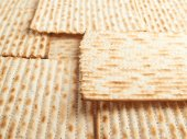 Surface covered with matza flatbread — Stock Photo