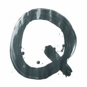 Letter Q made with the paint strokes — Stock Photo