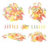 Sugar coated jelly worms candy sweets — Stock Photo