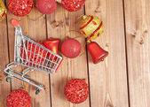 Christmas shopping composition — ストック写真