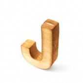 Capital block wooden letter J — Stock Photo