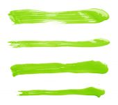 Straight oil paint brush strokes — Stock Photo
