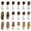 Hair wig over the mannequin head set — Stock Photo #67509155