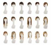 Hair wig over the mannequin head set — Stock Photo