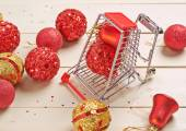 Christmas shopping composition — Stock Photo