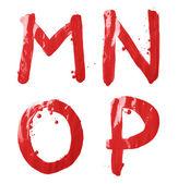 M, N, O, P letter character set — Stok fotoğraf
