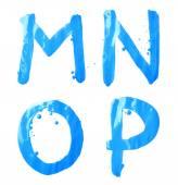 M, N, O, P letter character set — Zdjęcie stockowe