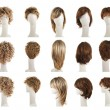 Hair wig over the mannequin head set — Stock Photo #68177183