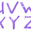 Hand drawn letters U, V, W, X, Y, Z — Stock Photo #68179551