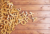 Pile of wooden letters — Stock Photo
