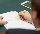 Marking words in a deflation definition — Stock Photo