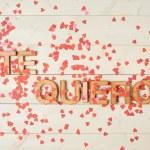 Te Quiero meaning I Love You — Stock Photo #69284941