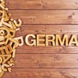 Word german made with wooden letters — Stock Photo #69288521