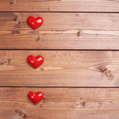 Composition of three hearts — Stockfoto