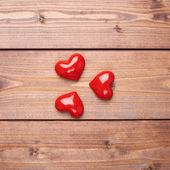 Composition of three hearts — Stock Photo