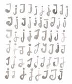 Set of multiple J letters — Foto de Stock