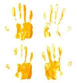 Ölfarbe Hand Palm druckt — Stockfoto
