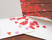 Empty valentine card composition — Stock Photo