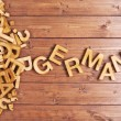 Word german made with wooden letters — Stock Photo #71164821