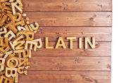 Word latin made with wooden letters — Stockfoto