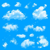Set of multiple clouds — Stock Photo