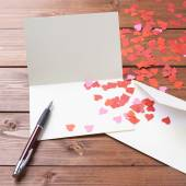 Empty valentine card composition — Foto Stock