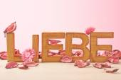 Word Liebe meaning Love — Stock Photo