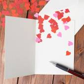Empty valentine card composition — Stock Photo