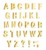 Alfabeto di Abc con segni di punteggiatura — Foto Stock