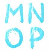 M, N, O, P letter character set — Foto de Stock