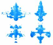 Symmetric paint blot — Stock Photo