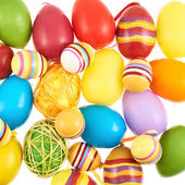 Multiple colorful Easter eggs — Stock Photo