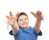Happy laughing young boy — Stock Photo