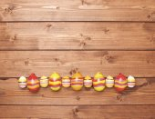 Easter eggs copyspace composition — Stockfoto