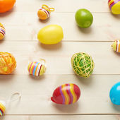 Multiple Easter egg decorations — Stock Photo