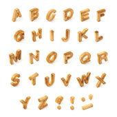 Capitale in legno blocco lettera alfabeto di Abc — Foto Stock