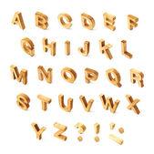 资本木制块 Abc 字母 — 图库照片