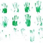 Multiple palm prints — Stock Photo #74600951