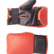 Single red and black boxing gloves — Stock Photo #75295805