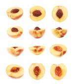 Halves of peach fruit — Stock Photo