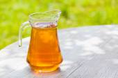 Apple cider in the jug — Stock Photo