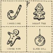 Christmas symbols icons set — Stock Vector