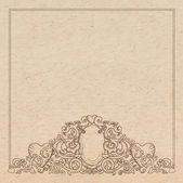 Vintage old paper texture with vector romantic Medieval vignette — Stock Vector