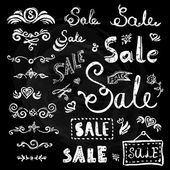 Sale hand drawn lettering — Vetor de Stock