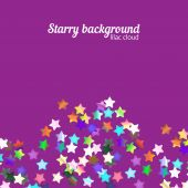 Holographic stars background — Stock Vector