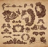 Vector royal wedding vignettes — Stock vektor