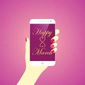 International Women's Day, 8 March — Stock Vector