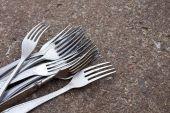 Retro forks — Stock Photo
