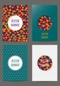 Set of brochures in geometric style — Stock Vector