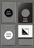 Set of  flyers in retro style — Stock Vector